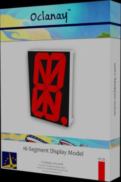 Sixteen Segment Display Model Free 3D Model