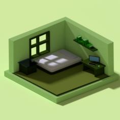Low polygonal room 1 3D Model