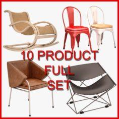 Chair Set 04 10 Product 3D Model