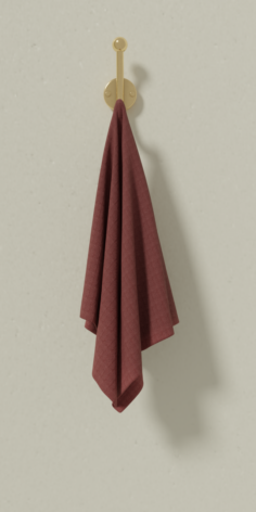 Towel on the hook 3D Model