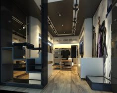 Fashion clothes store 119 3D Model