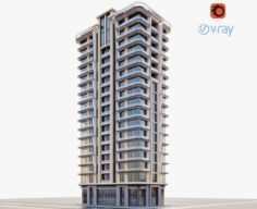 Modern residential building 3D Model