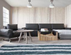 Wood Stiled Livingroom 3D Model