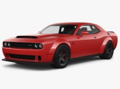 Dodge Challenger SRT Demon 2018 3D Model