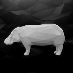 3D Printable Hippo Model 3D Model