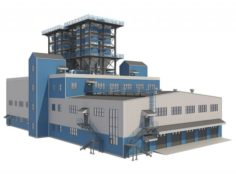 Industrial Building 2 3D Model