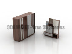 DEFNE 4020 Wardrobe Commode 3D Collection