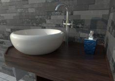 Ethnic Sink Cabinet 3D Model