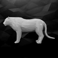 3D Printable Tiger Model 3D Model