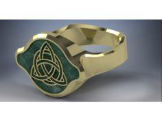 Celtic styled ring 3D Print Model