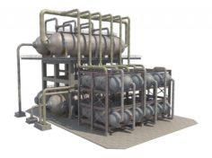 Industrial Oil Refinery 1 3D Model