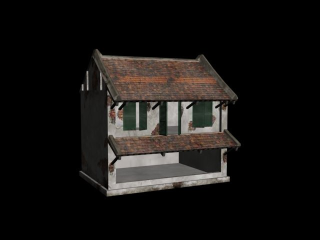 Simple House Free 3d Model 3dhuntco
