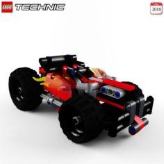 Lego 42073 BASH Free 3D Model