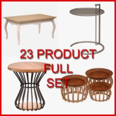 Table and Coffee Table Set 02 23 Product 3D Model