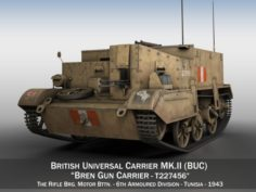 Bren Gun Carrier – BUC – T227456 3D Model