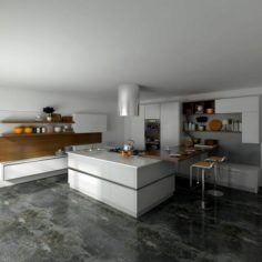Family – kitchen – restaurant 443 3D Model