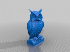 Beautiful Owl 3D Model