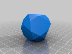 38 sided Snub Hexahedron W9 Waterman Polyhedron 3D Print Model