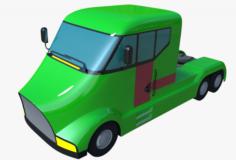 Futuristic Semi-truck 3D Model