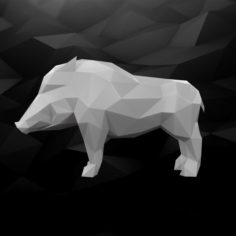 3D Printable Boar Model 3D Model