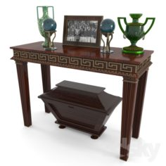 console and decorative set                                      Free 3D Model