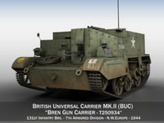Bren Gun Carrier – BUC – T250934 3D Model