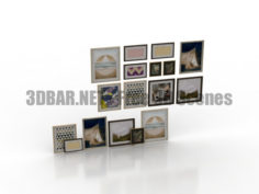 Pictures set decor 3D Collection