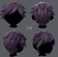 3D Hair style for boy V07 3D Model
