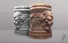 Lion Cup 3D Model