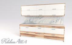 Kitchen Aida – Small Kitchen Panel 3D Model