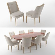 BENTLEY HOME stamford chair and alston table 3D Model