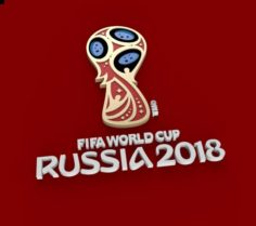 FIFA 2018 RUS Logo 3D Model