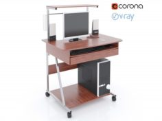 Computer Desks 3D Model