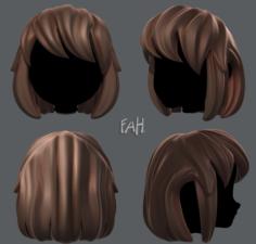 3D Hair style for girl V12 3D Model