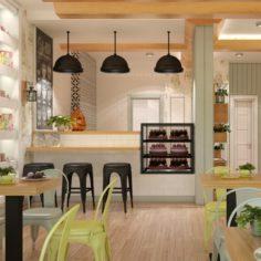 Cafe Interior 14 3D Model