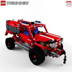 Lego 42075 First Responder 3D Model