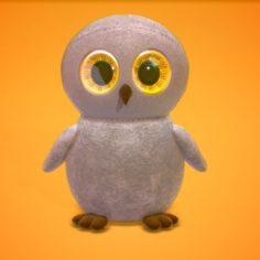 Owl with Huge Eyes 3D Model