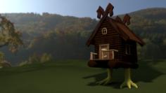 Hut on chicken legs 3D Model