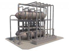 Industrial Silo 8 3D Model