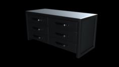 Modern Horizontal Dresser 3D Model
