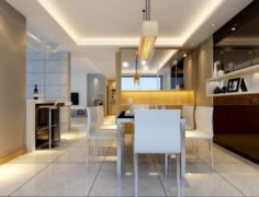 Family – kitchen – restaurant 390 3D Model
