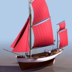 Sailing vessel 3D Model