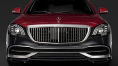 Mercedes Maybach S 560 4Matic X222 2019 3D Model