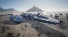 Star Wars Ship 3D Model
