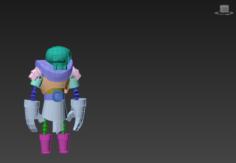 Warrior skeleton 3D Model