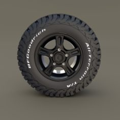 Offroad Alloy Wheel AT 3D Model