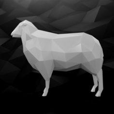 3D Printable Sheep Model 3D Model