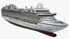 Cruise Ship Crown Princess 3D Model