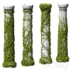 Leaves on a Doric column. 4 models                                      3D Model
