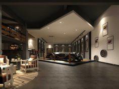 Business – Commercial – Automotive Showroom – 9408 3D Model